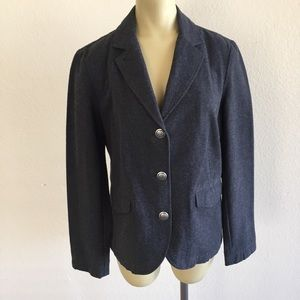 Talbots Dark Gray Button Up Jacket sz 8!